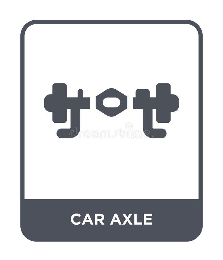 bilaxelsymbol i moderiktig designstil bilaxelsymbol som isoleras på vit bakgrund lägenhet för symbol för bilaxelvektor enkel och  royaltyfri illustrationer