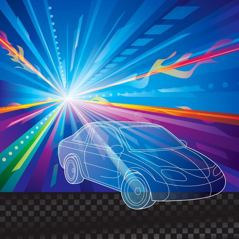 Bilbakgrund stock illustrationer