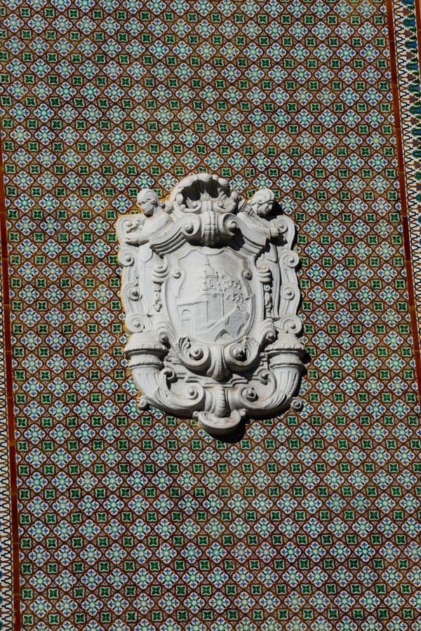 Bilbao żakiet ręki na Ribera rynku fasadzie zdjęcie royalty free