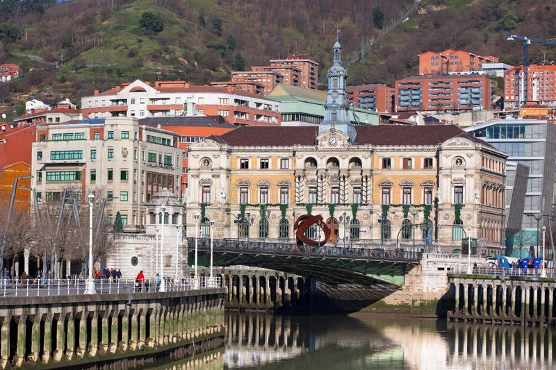 Bilbao, Basque Country, Spain cityscape royalty free stock photos