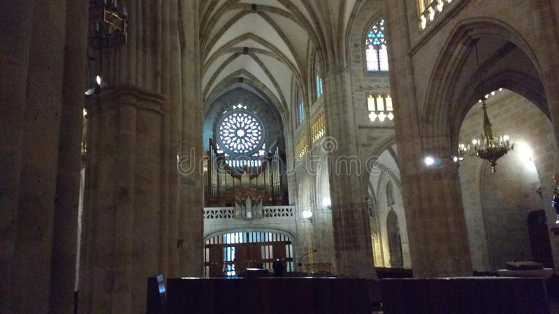 Bilbao Cathedral Sandiago de Compostela Apostol images stock