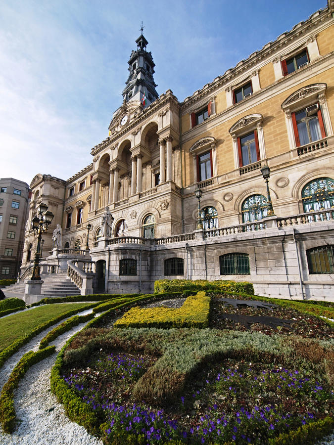 Download Bilbao city townhall stock photo. Image of facade, country - 9981016
