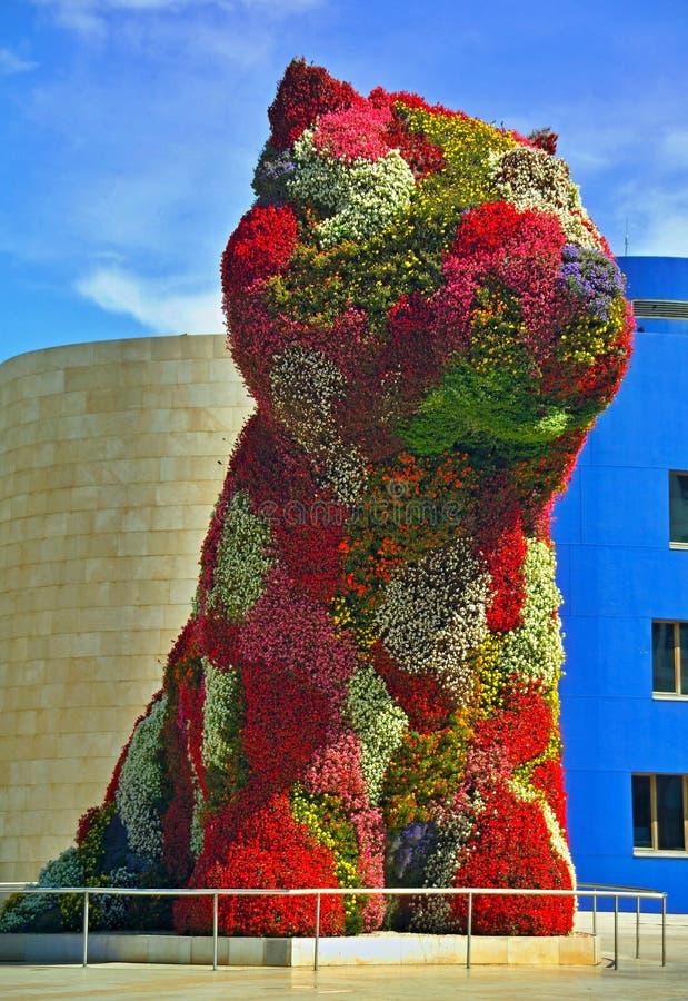 Bilbao - den moderna delen av staden - Spanien royaltyfri bild