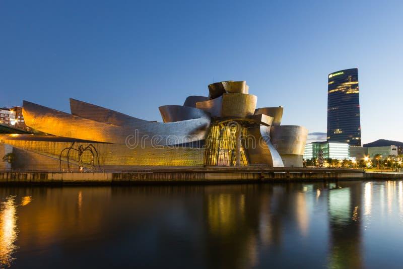 Bilbao - Guggenheim museum fotografering för bildbyråer