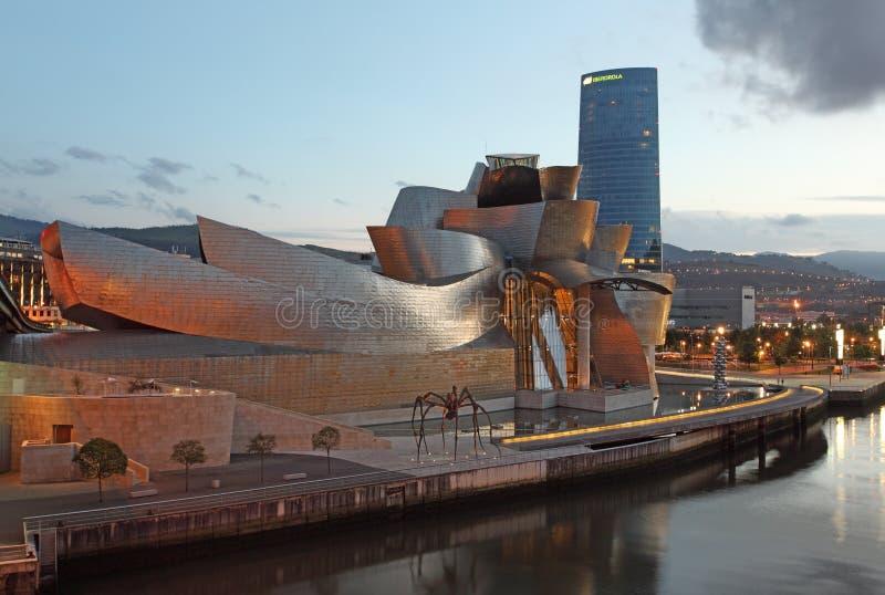bilbao guggenheim muzeum Spain zdjęcie royalty free