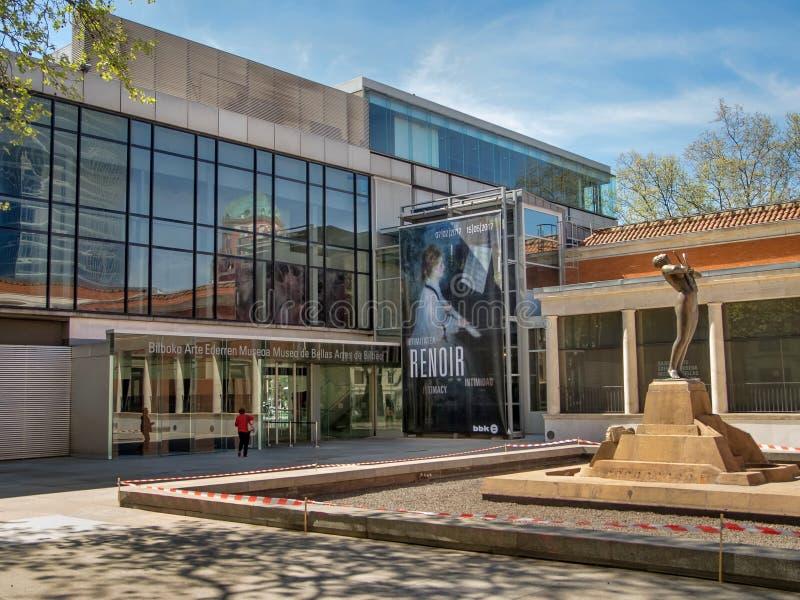 Bilbao konstmuseum, Bilbao, Spanien arkivbild