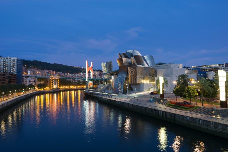 Bilbao la nuit photos stock