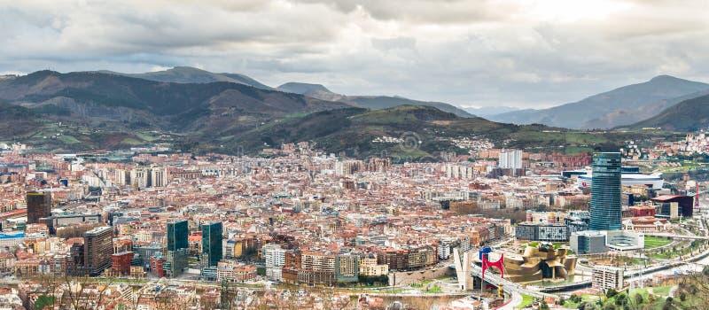 Bilbao od above fotografia royalty free