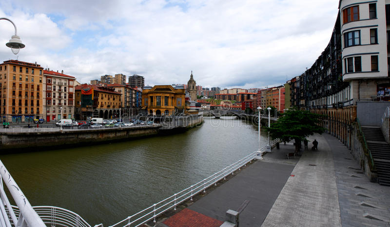 Bilbao panorama royaltyfri fotografi