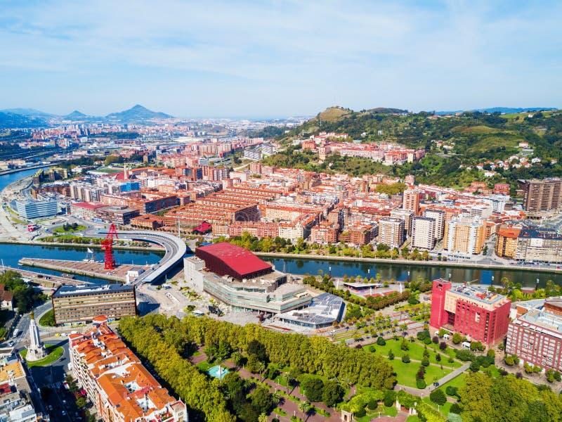 Bilbao powietrzny panoramiczny widok, Hiszpania obraz stock