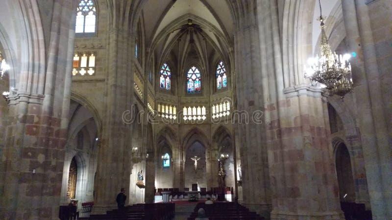Bilbao Cathedral Sandiago de Compostela Apostol stock photography