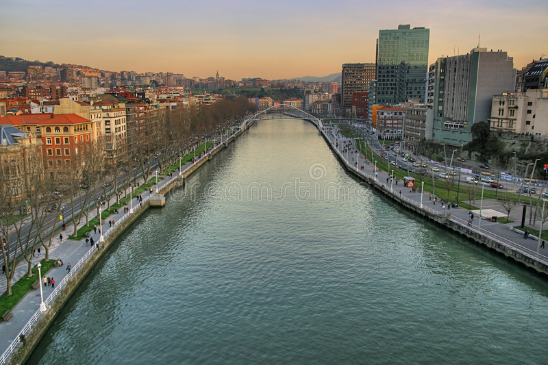 Bilbao-Stadt lizenzfreies stockbild