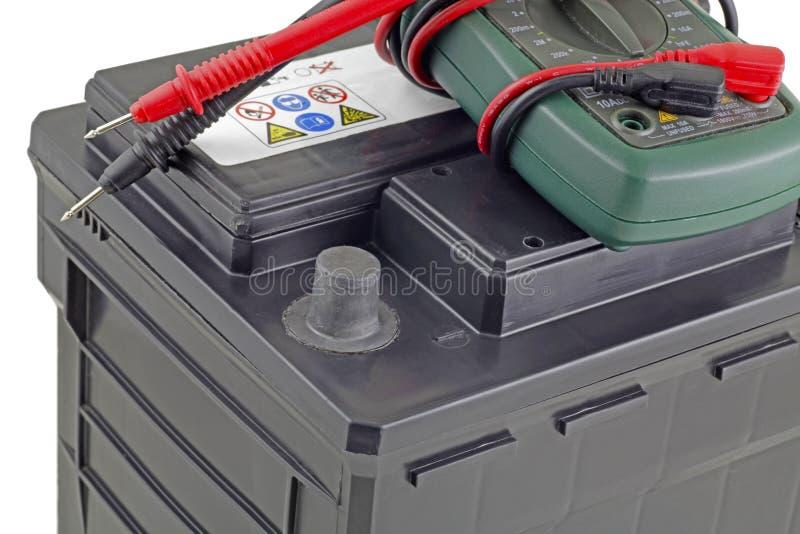 Bilbatteri och mång- meter arkivfoton