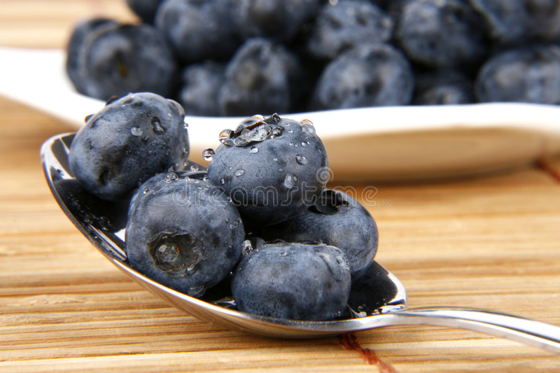 Bilberries. Very fresh and sweet bilberries royalty free stock photos
