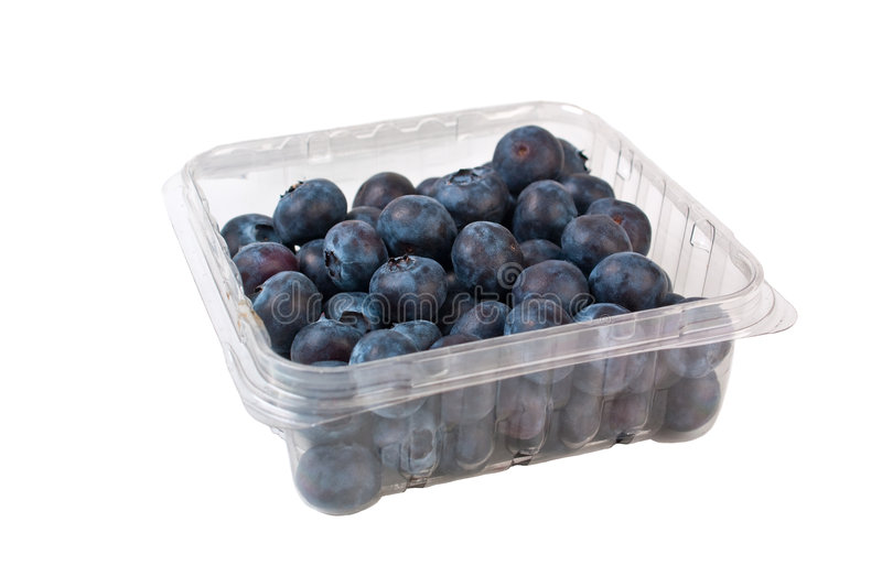Bilberries in a package. Bilberries in a transparent package stock images