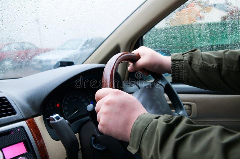 bilchaufför royaltyfri bild