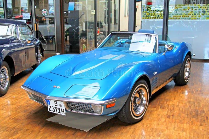 bilchevrolet klassisk corvette red royaltyfri bild