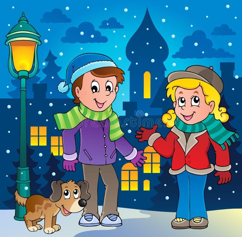 Bild 3 För Vinterpersontecknad Film Royaltyfria Foton