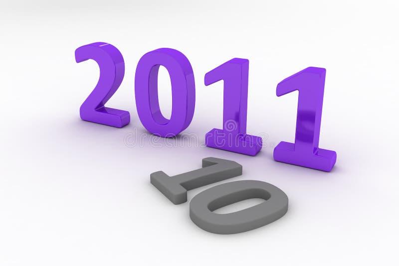 Bild 3D von 2011 (Purpur) stock abbildung