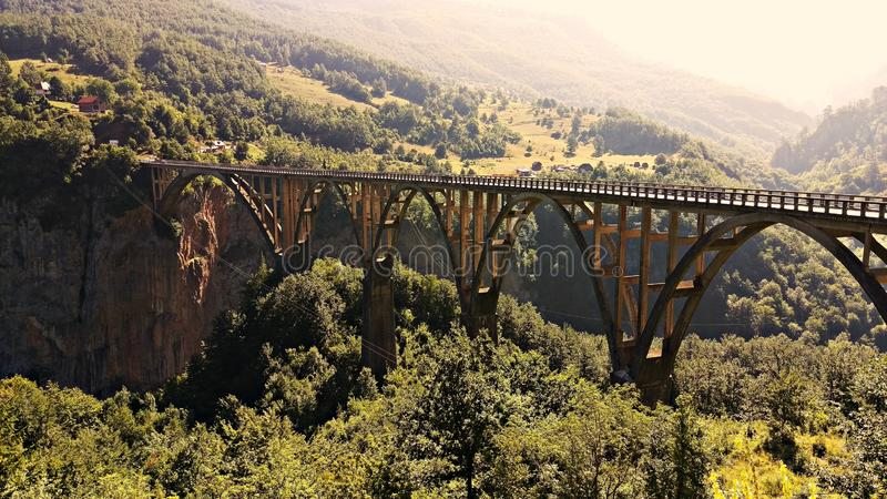 Bild als Postkarte Brücke stockbilder