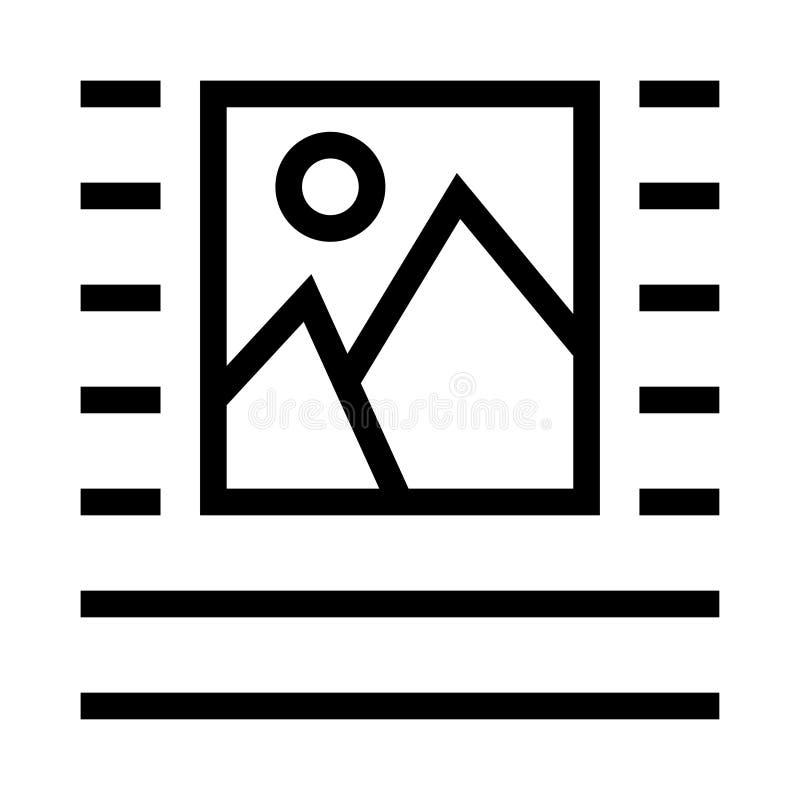 Bild-Ausrichtungsvektorlinie Ikone stock abbildung