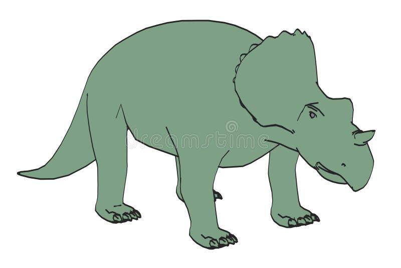 Bild av avaceratopsdinosaurien royaltyfri illustrationer