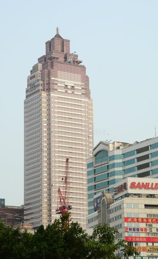 Bild av bostads- byggnader av nya Taipei arkivfoton