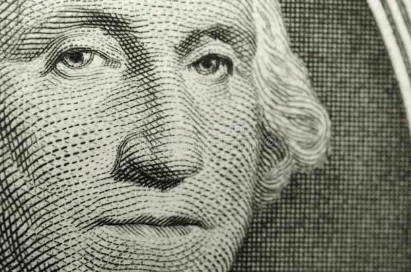 Bild av den amerikanska symbolen, George Washington, från avers av US dollar royaltyfri illustrationer