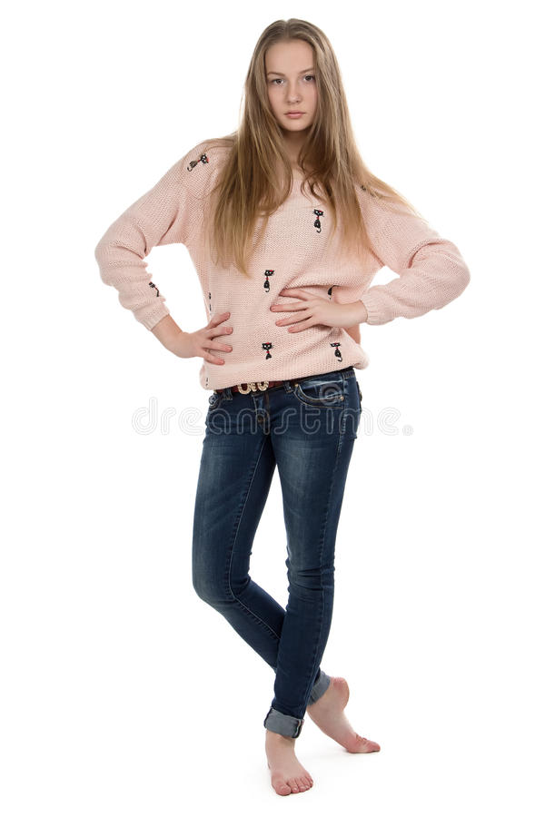 Bild av den gulliga tonårs- flickan royaltyfri foto