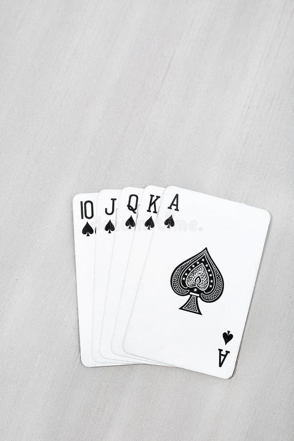 Bild av det svarta spela kortet arkivbilder