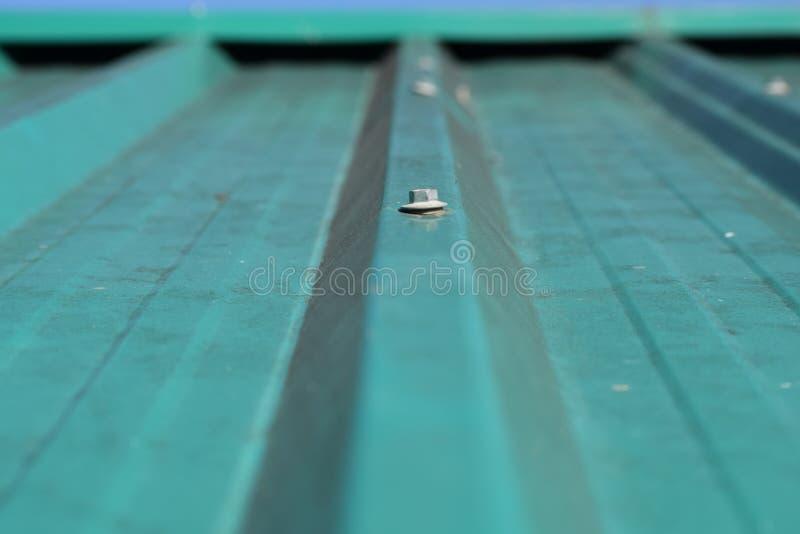 Bild av en grön taköverkant royaltyfria bilder