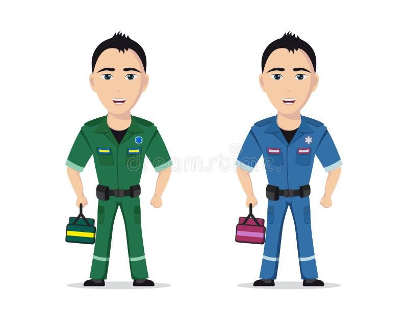 Bild av en person med paramedicinsk utbildning royaltyfri illustrationer