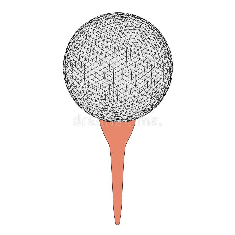Bild av golfboll vektor illustrationer