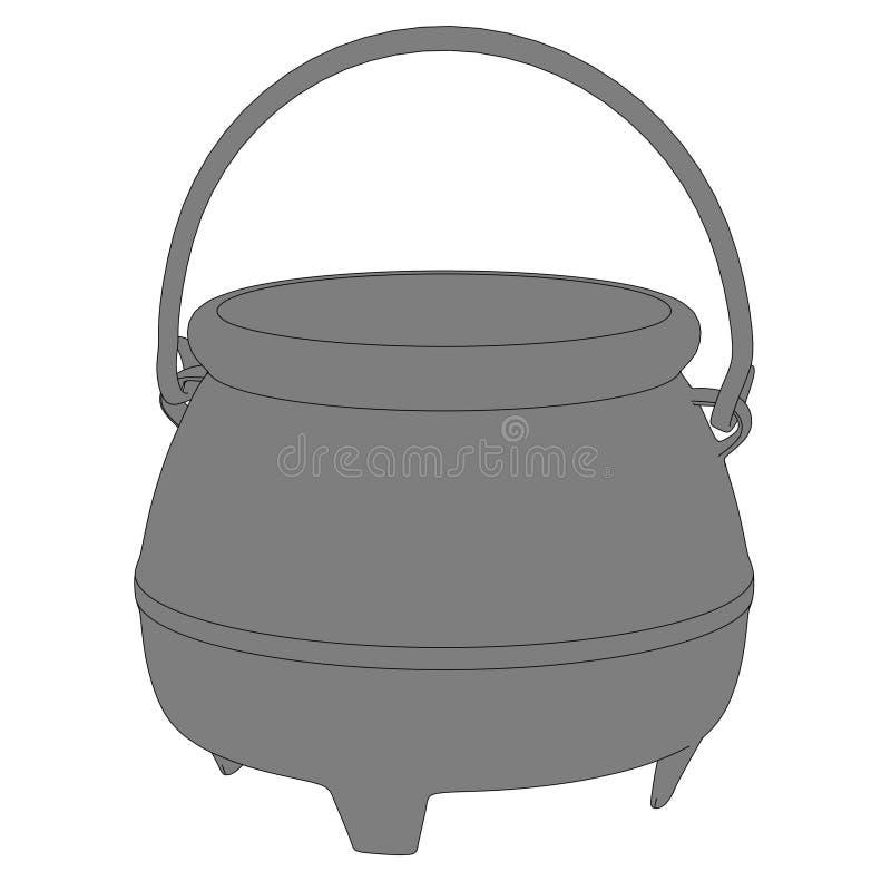 Download Bild av metallkrukan stock illustrationer. Illustration av kock - 37345900