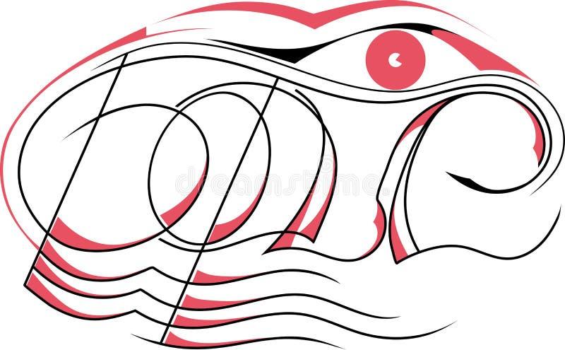 Bild av namnet `Boris` stock illustrationer