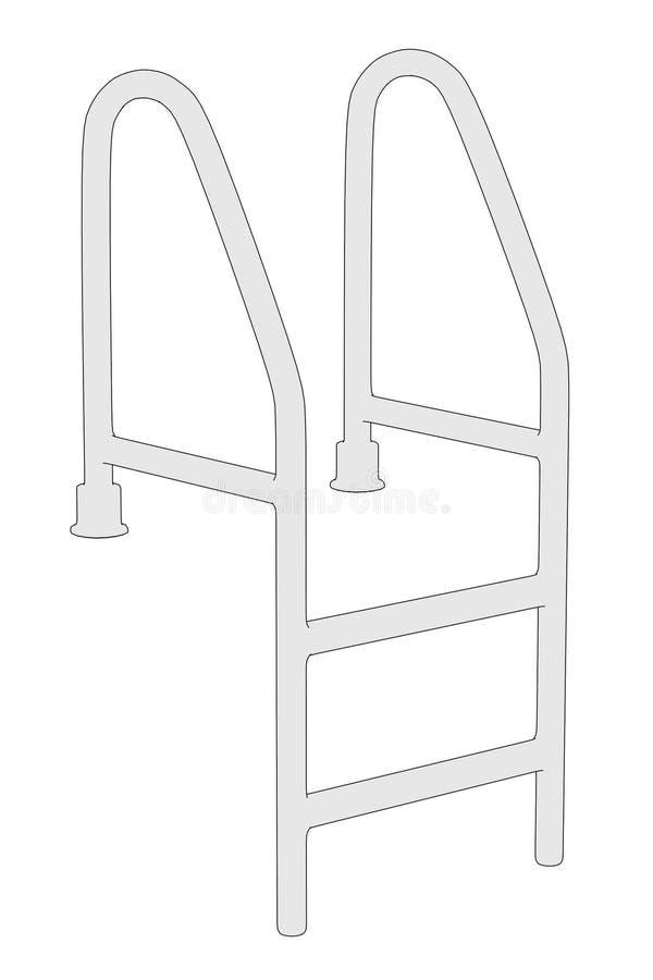 Bild av pölstegen vektor illustrationer