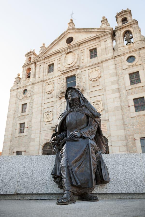 Bild av Santa Teresa de Jesus som framme sitter av hans uppehåll arkivfoto
