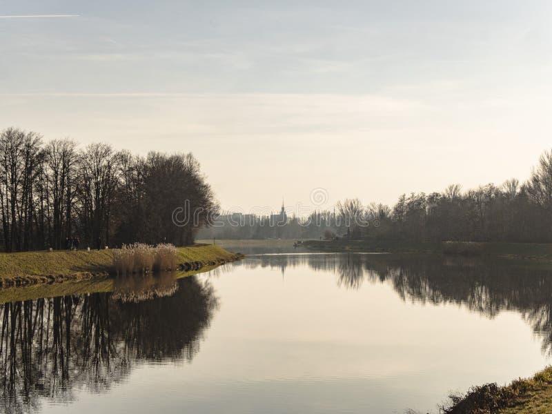 Bild av sikten till centret av Pardubice fotografering för bildbyråer