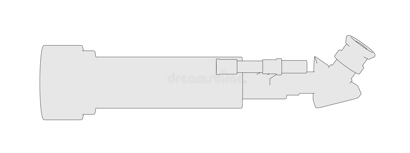 Bild av teleskopet (den optiska apparaten) stock illustrationer
