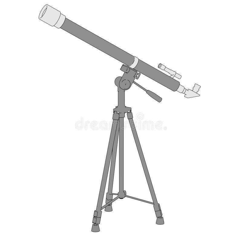 Bild av teleskopet (den optiska apparaten) royaltyfri illustrationer