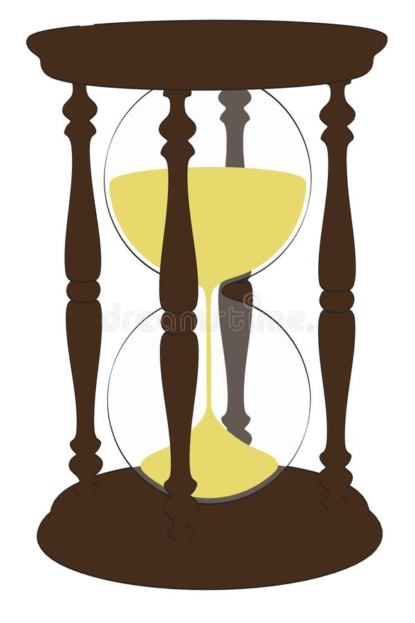 Bild av timglasobjekt royaltyfri illustrationer