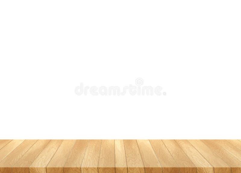 bild av trätabellen framme av abstrakt suddig bakgrund av arkivfoto