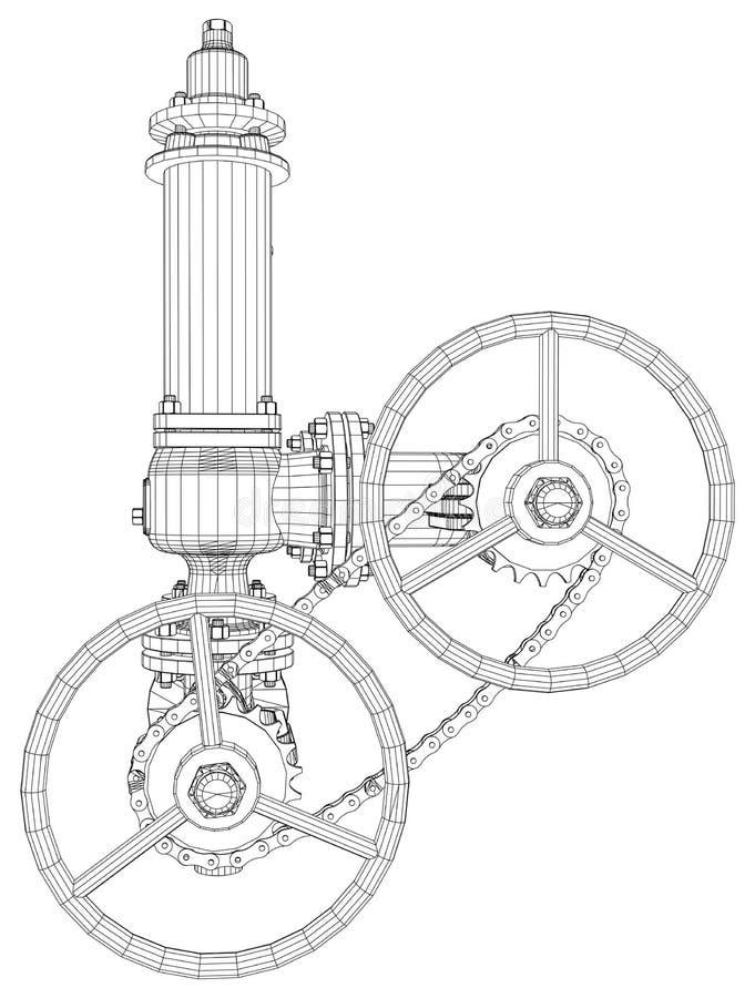 Bild av värmeexchangeren vektor illustrationer