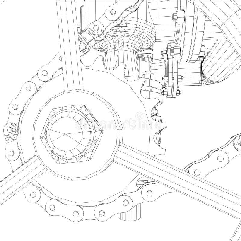Bild av värmeexchangeren stock illustrationer