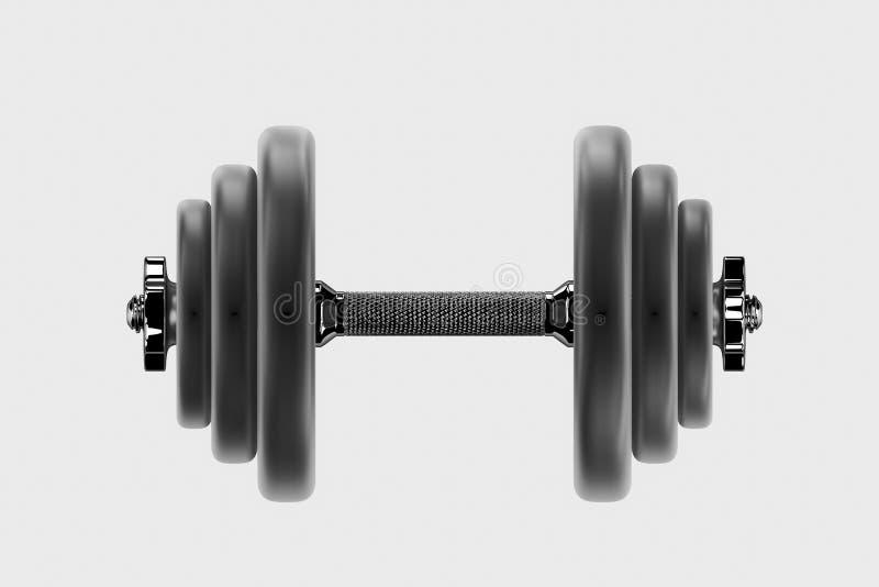 bild 3D av en hantel för sportar Bodybuildingutrustning vektor illustrationer