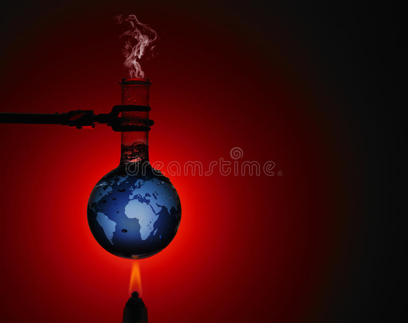 Bild der globalen Erwärmung lizenzfreies stockbild