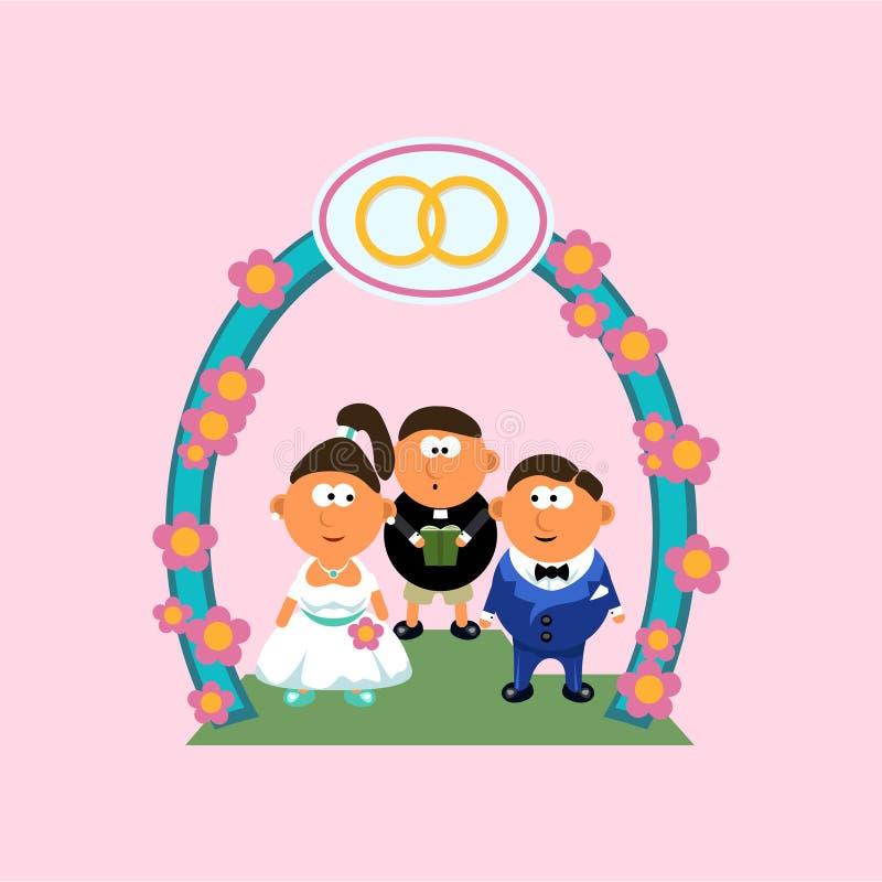 Bild der Hochzeit lizenzfreie abbildung