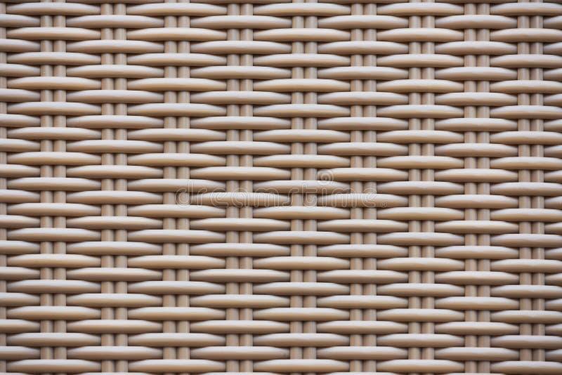 Bild der hohen Auflösung der braunen Rattanbeschaffenheit stockfotos