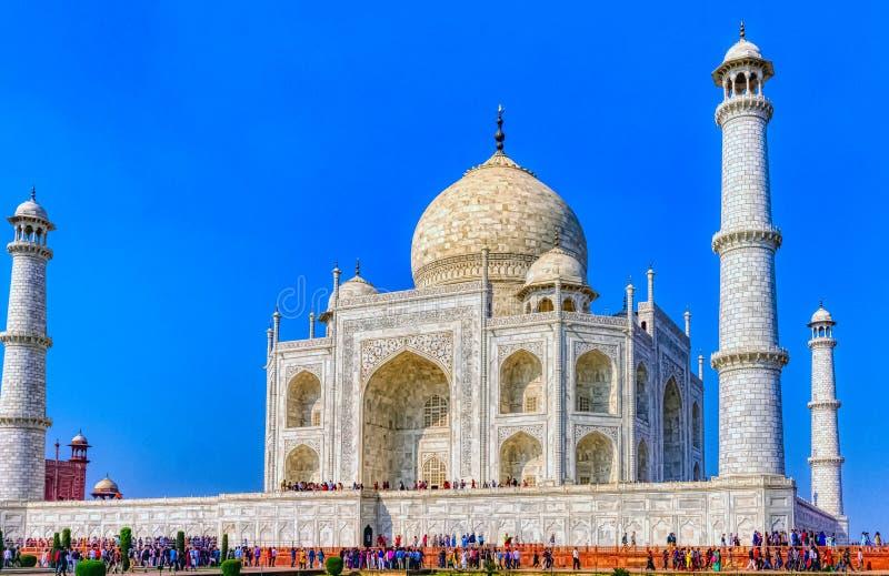 Bild der Krone der Paläste - Taj Mahal in Agra, Indien lizenzfreie stockfotografie