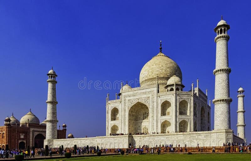 Bild der Krone der Pal?ste - Taj Mahal in Agra, Indien lizenzfreie stockfotos